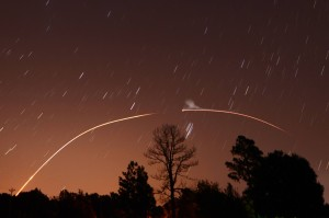 LADEE launch over North Carolina by Ken Christison.