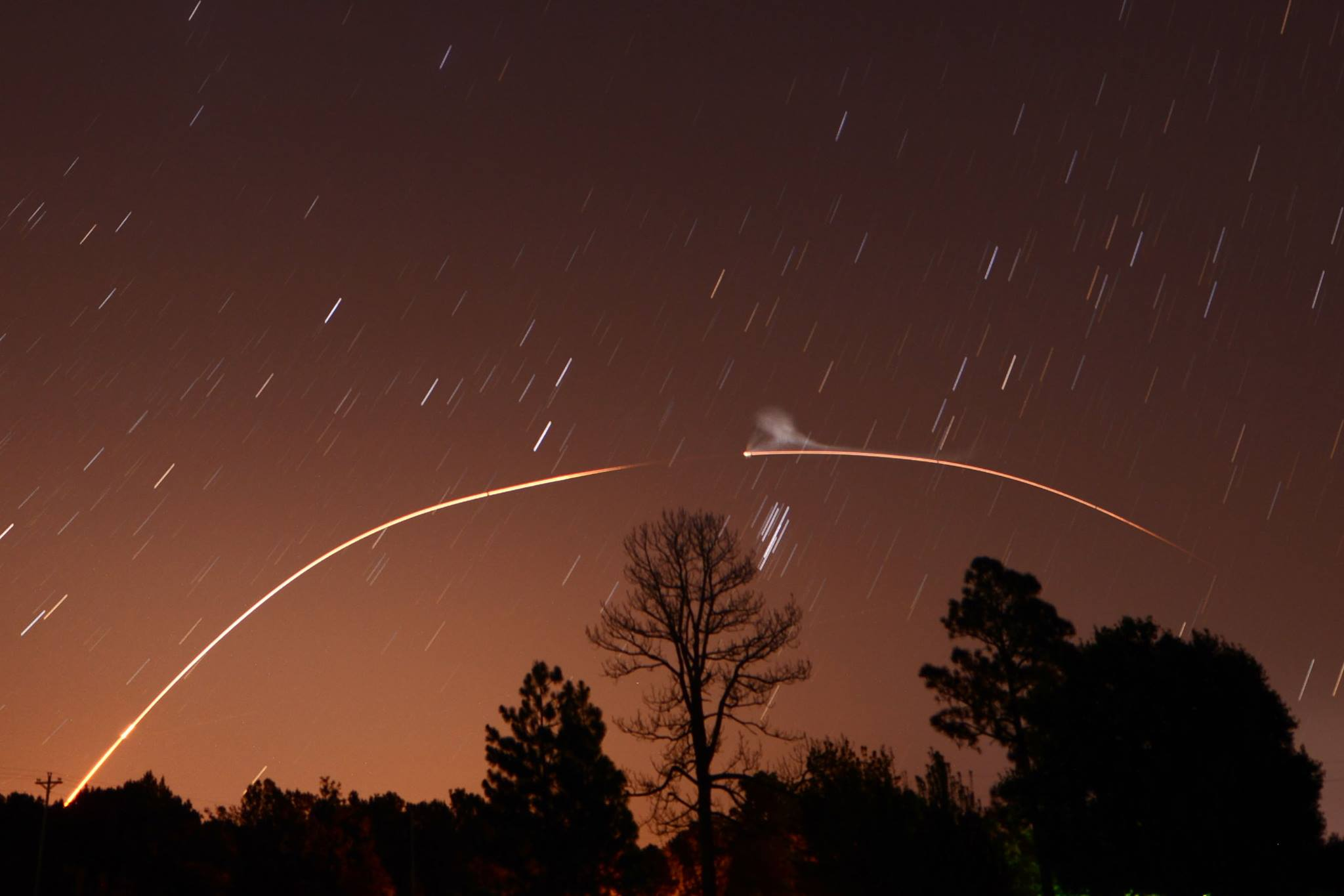 LADEE launch to the moon as seen over northeastern North Carolina by EarthSky Facebook friend Ken Christison. Thanks, Ken!