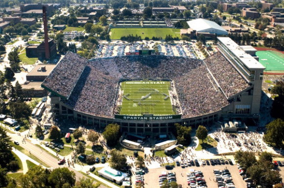 Michigan State's football stadium. Image Credit: msuspartans.com