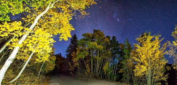 Fall night in Colorado. Taken above Breckenridge. Photo: Joe Randall  View larger.