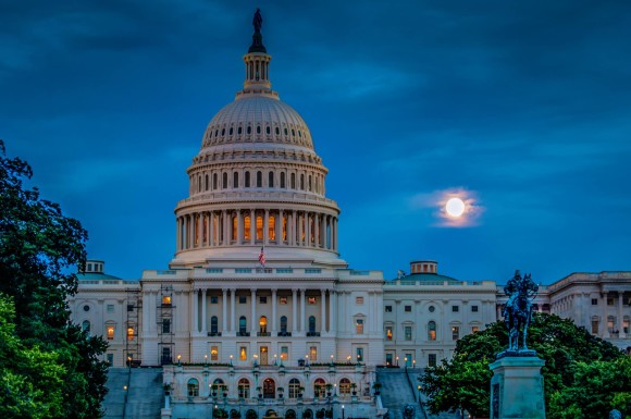 Jeff Norman posted this photo of the September 18 Harvest Moon over the U.S. Capitol. Thanks, Jeff!