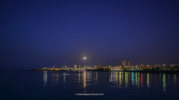 Harvest Moon on September 19, 2013 over Kuwait, via EarthSky Facebookfriend Abdulmajeed Alshatti. Thank you!