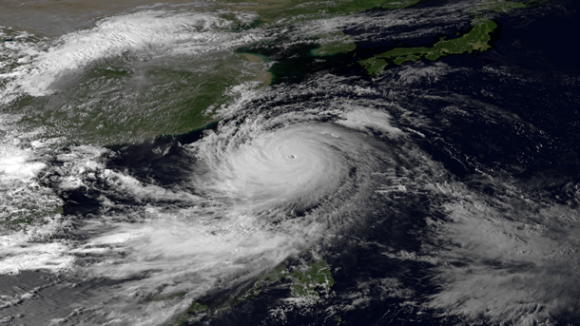 The Japan Meteorological Agency's MTSAT-2 satellite acquired this image at 0730 UTC on September 20, 2013. Image via NOAA.