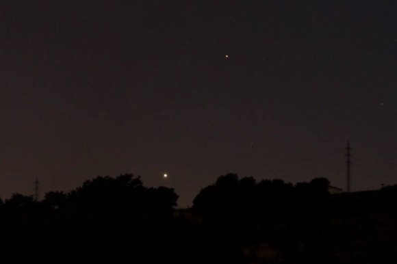 Venus and Saturn as captured by our friend Annie Lewis on September 18.  Annie is in Madrid, Spain.