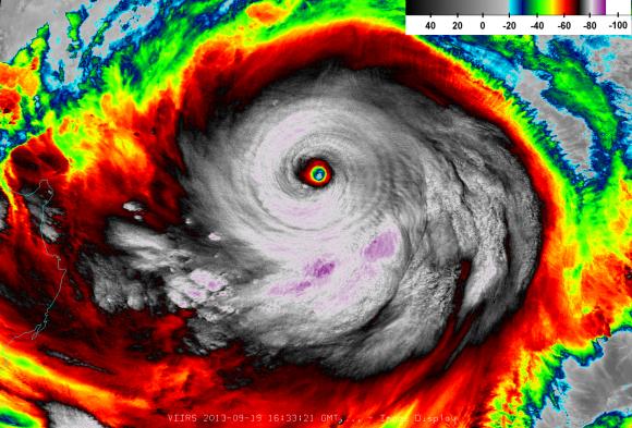 Usagi infrared satellite view 12:33 p.m. ET Thursday. Image Credit: Colorado State University