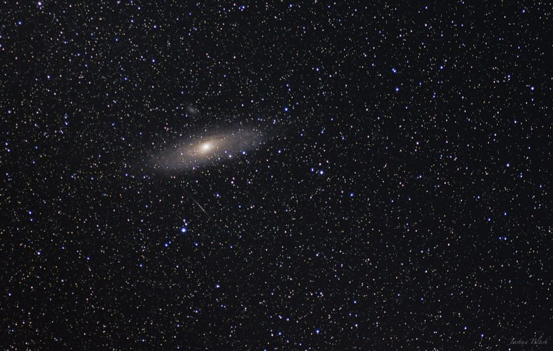 EarthSky Facebook friend Josh Blash captured this image of the Andromeda galaxy in July, 2014.