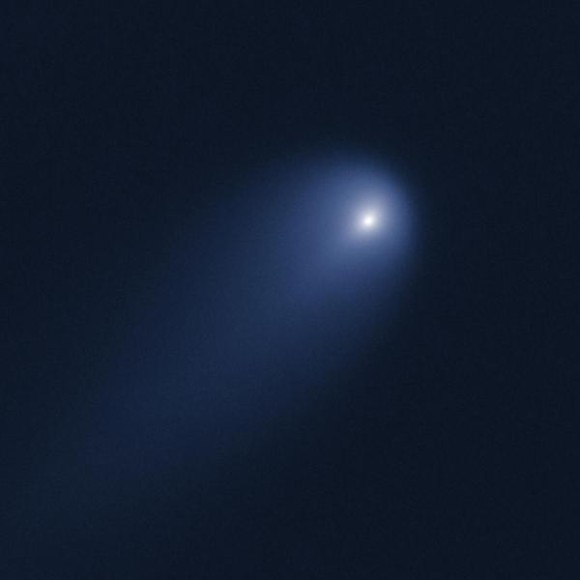 Comet C/ISON was imaged with the Hubble Space Telescope on April 10 using the Wide Field Camera 3, when the comet was 394 million miles from Earth. Image credit: NASA, ESA, J.-Y. Li (Planetary Science Institute) and Hubble Comet ISON Imaging Science Team.