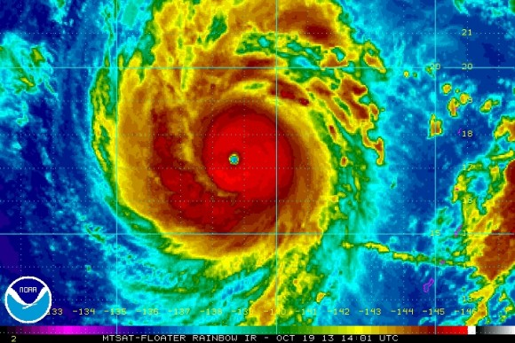 Super Typhoon Francisco on October 19, 2013. Image Credit: NOAA