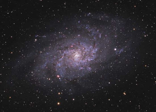 The Triangulum galaxy, aka M33.  It is a face-on spiral galaxy, often photographed, but difficult to see with the eye although it is one of the closest galaxies.