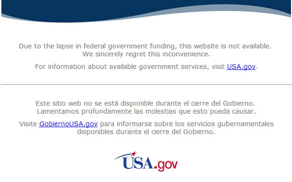 If you try to access NASA, this is what you get.