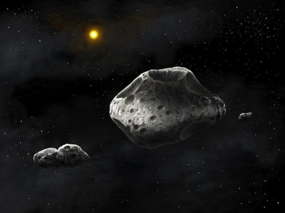 Backyard astronomers team up with pros to study triple asteroid