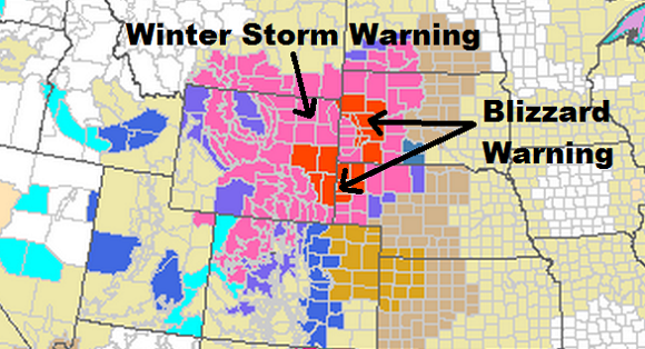 Winter in October? Winter storm and Blizzard warnings have been issued for parts of Wyoming, South Dakota, and Nebraska. Image Credit: NOAA