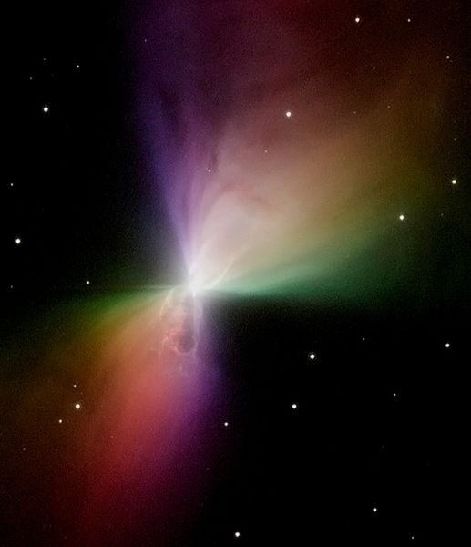 Boomerang Nebula seen with the Hubble Space Telescope. Prior to the new observations with ALMA, astronomers thought this nebula has a bowtie shape. Image via HubbleSite.org