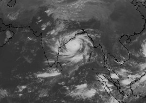 Phailin on October 11: About half India's size