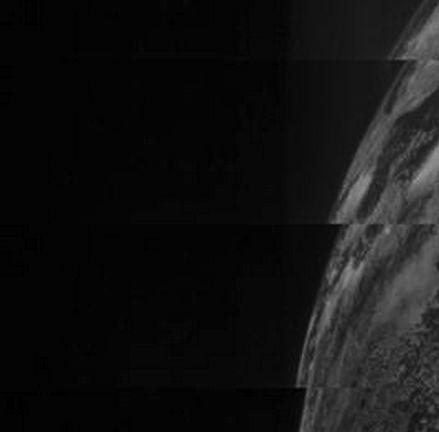 Preliminary image of Earth by Juno spacecraft, October 9, 2013. Image via NASA / JPL SWRI Malin Space Science Systems JUNO spacecraft.