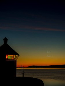 Mercury and Saturn in morning sky.