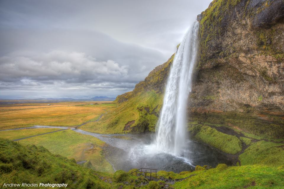 View larger. | Seljalandsfoss waterfall in south Iceland, as captured by Andrew Rhodes Photography. Visit Andrew's website.