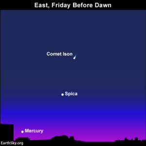 Year's best morning apparition of Mercury in November 2013. Chart for dawn November 15. Read more.