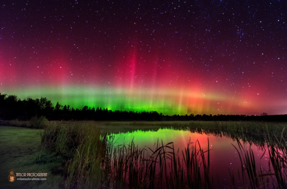 What the camera sees.  Albion Aurora by Mike Taylor.