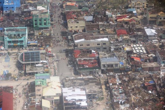 Damage from Super Typhoon Haiyan. Image Credit: AFP