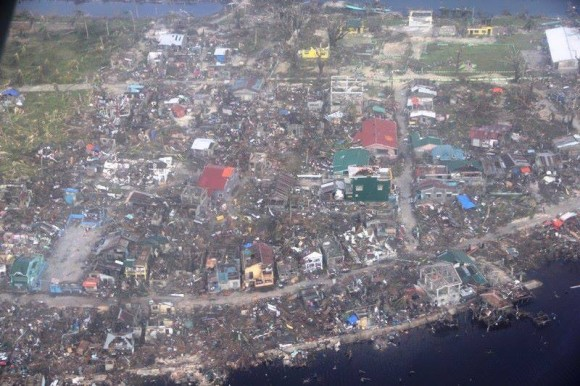 Haiyan Damage in Guiuan. Image Credit: AFP Central Command