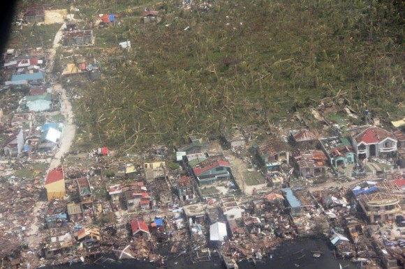 Damage in Guiuan. Image Credit: AFP Central Command