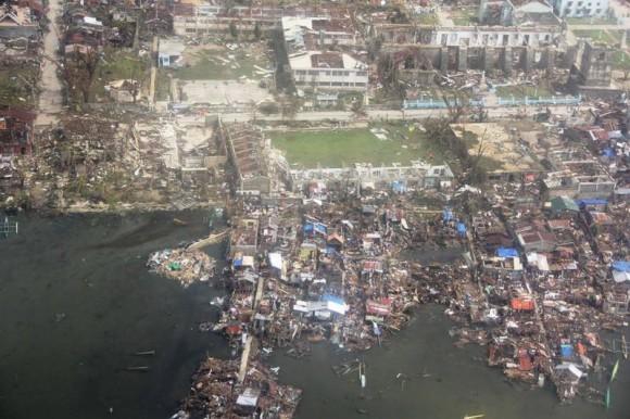 Damage in Guiuan. Image Credit: AFP Central Command