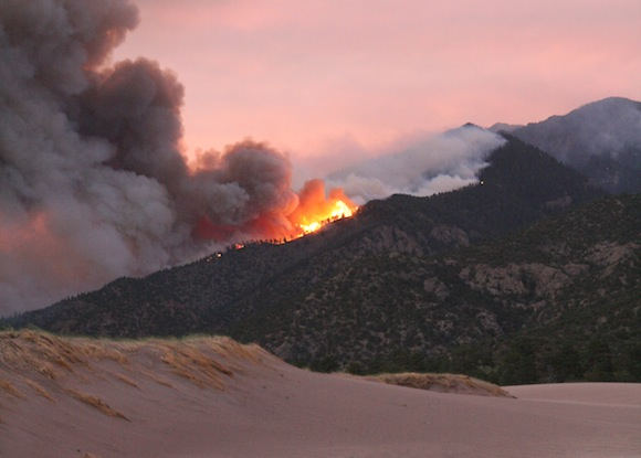 Wildfire in Great Sand Dunes National Park (DI02268) Photo by Da