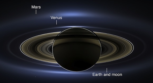 Saturn-and-Earth-Cassini
