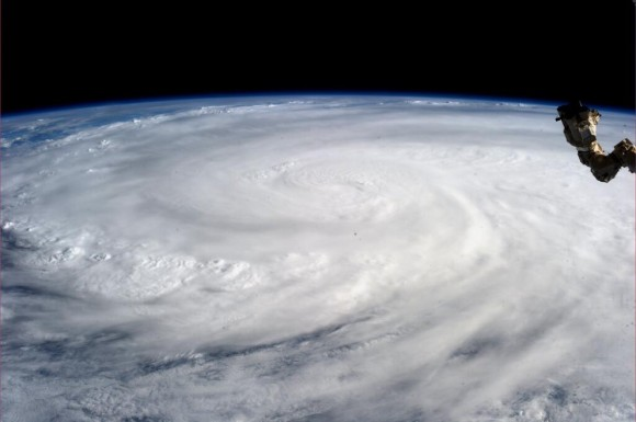 Typhoon Haiyan on November 9, 2013. Image Credit: Karen Nyberg on the International Space Station