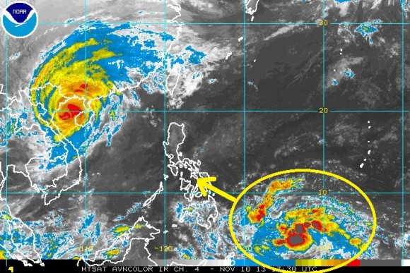 Could another tropical system affect the Philippines by the middle of next week? Possibly. Image Credit: NOAA