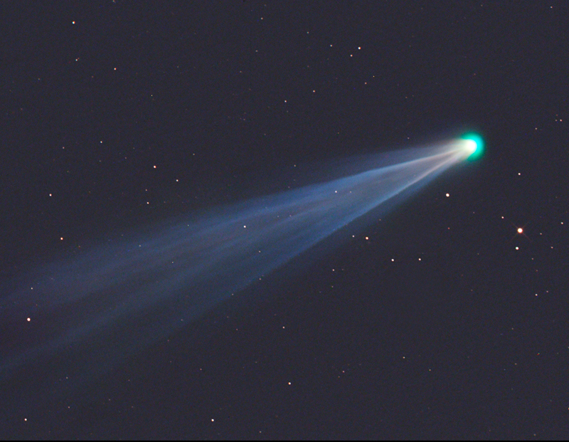 View larger. | Gerald Rhemann in Namibia in SW Africa captured this photo of Comet ISON on November 21, 2013, one week before its encounter with the sun. Visit Gerald's website Sky Vistas.