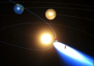 Comet ISON interactive model via Inove