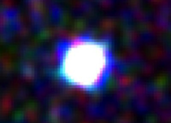 This is a close-up of the gamma-ray burst, taken by the ultraviolet/optical telescope on the Swift satellite. Credit: Swift Satellite
