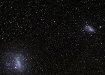 Closer view of the Large and Small Magellanic Clouds