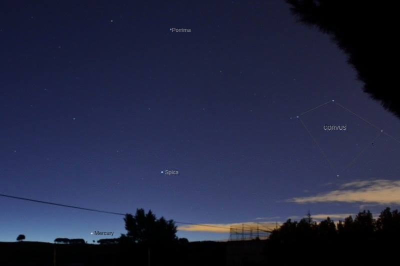 View larger. | Mercury before dawn on November 13, 2013 via Annie Lewis in Madrid, Spain. Thank you, Annie!