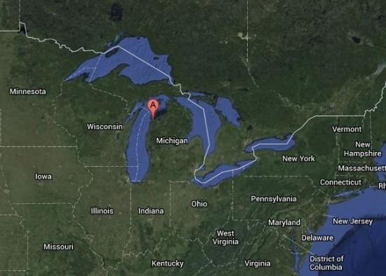 Sleeping Bear Dunes National Lakeshore, on Lake Michigan.