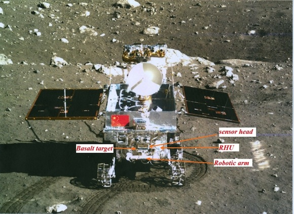 APXS on Yutu rover of Chang'e-3 mission. Image by Xinhua