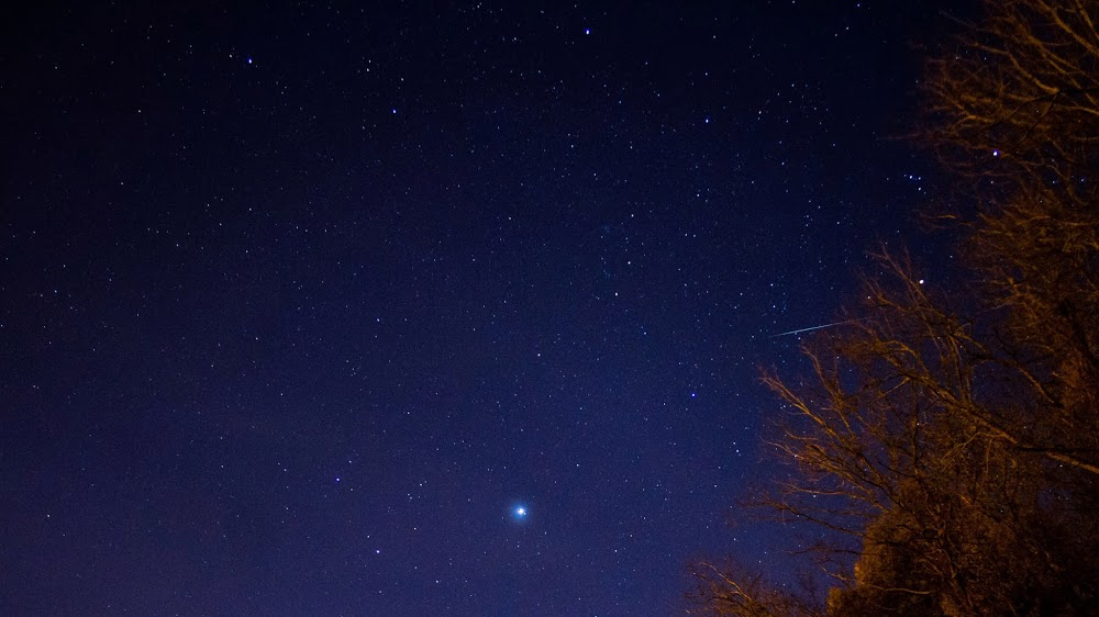 View larger. | Early Geminid, seen on December 10, 2013 by EarthSky friend on Google+, Greg Hogan.