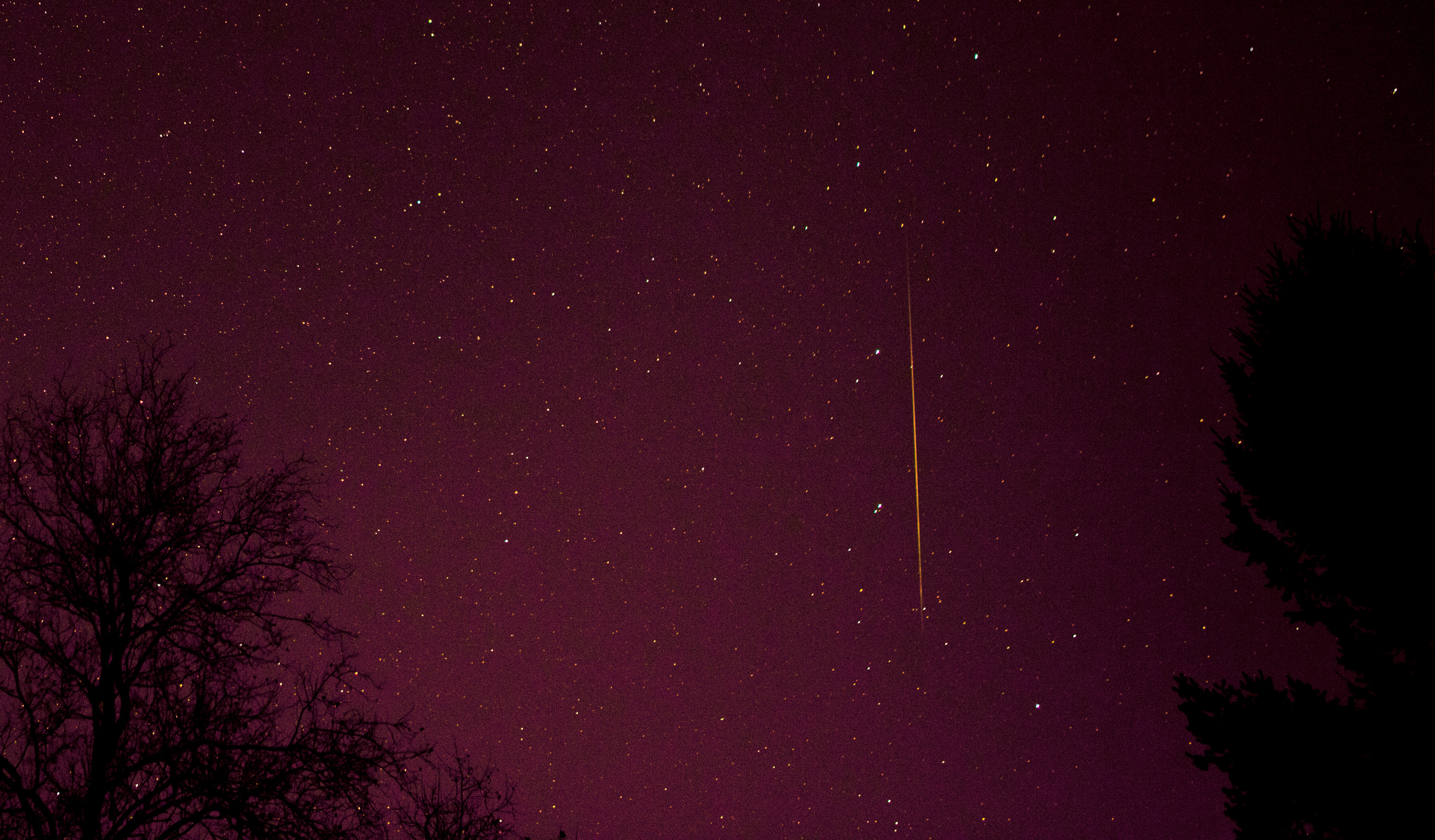 View larger. | Geminid meteor in 2012 by Henry Shaw.