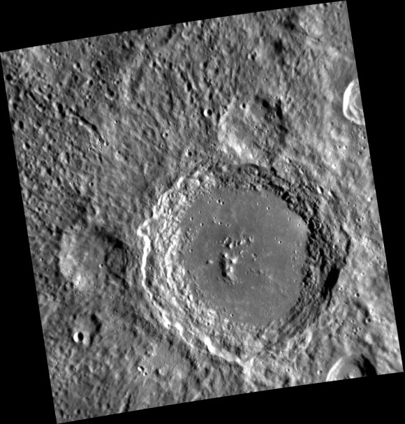 The newly named Lennon crater on Mercury is 59 miles (95 km) wide.