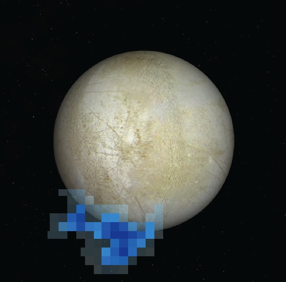 Water vapor venting from Jupiter's moon, Europa