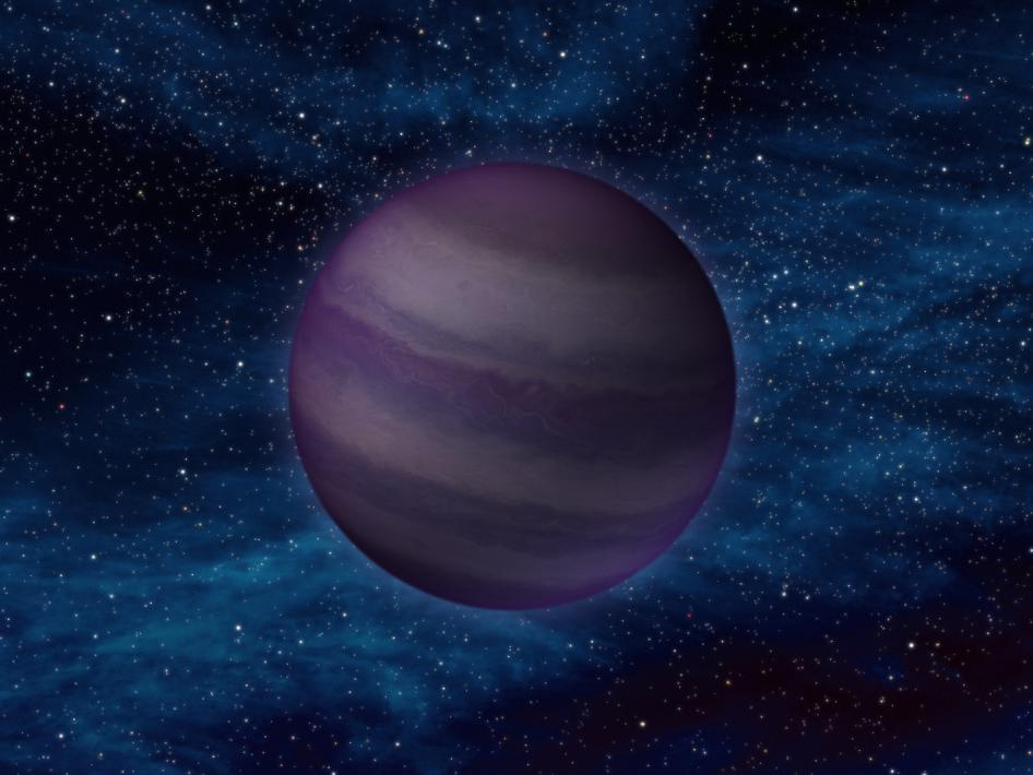 View larger. | This artist's illustration shows how a particular class of brown dwarfs - called a Y dwarf - might look. Illustration via WISE satellite, which has discovered many brown dwarfs.