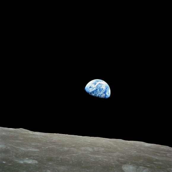 Iconic earthrise photo - taken December 24, 1968 - by the crew of Apollo 8.