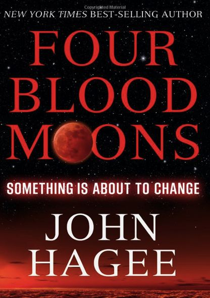 Book cover with title Four Blood Moons Something Is About to Change.
