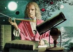 Artist's concept of Isaac Newton.