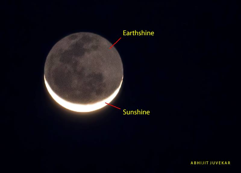 View larger. | EarthSky Facebook friend Abhijit Juvekar captured this crescent moon with earthshine on December 1, 2013.  Thank you, Abhijit!