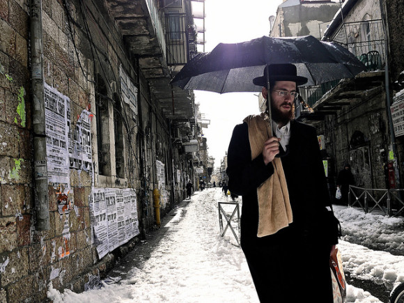 Snow in Jerusalem on December 13, 2013 by Miriam Zezzera on Flickr. Click here for more details on this photo.