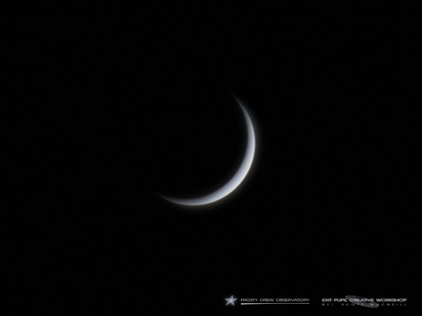 View larger. | Scott MacNeill captured Venus as a 7% crescent on Friday, December 27, 2013. Photo taken at Frosty Drew Observatory in Charlestown, Rhode Island, USA.