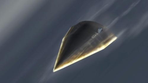 Here's the illustration from a July 2012 story titled US military to launch hypersonic rocket plane by 2016.